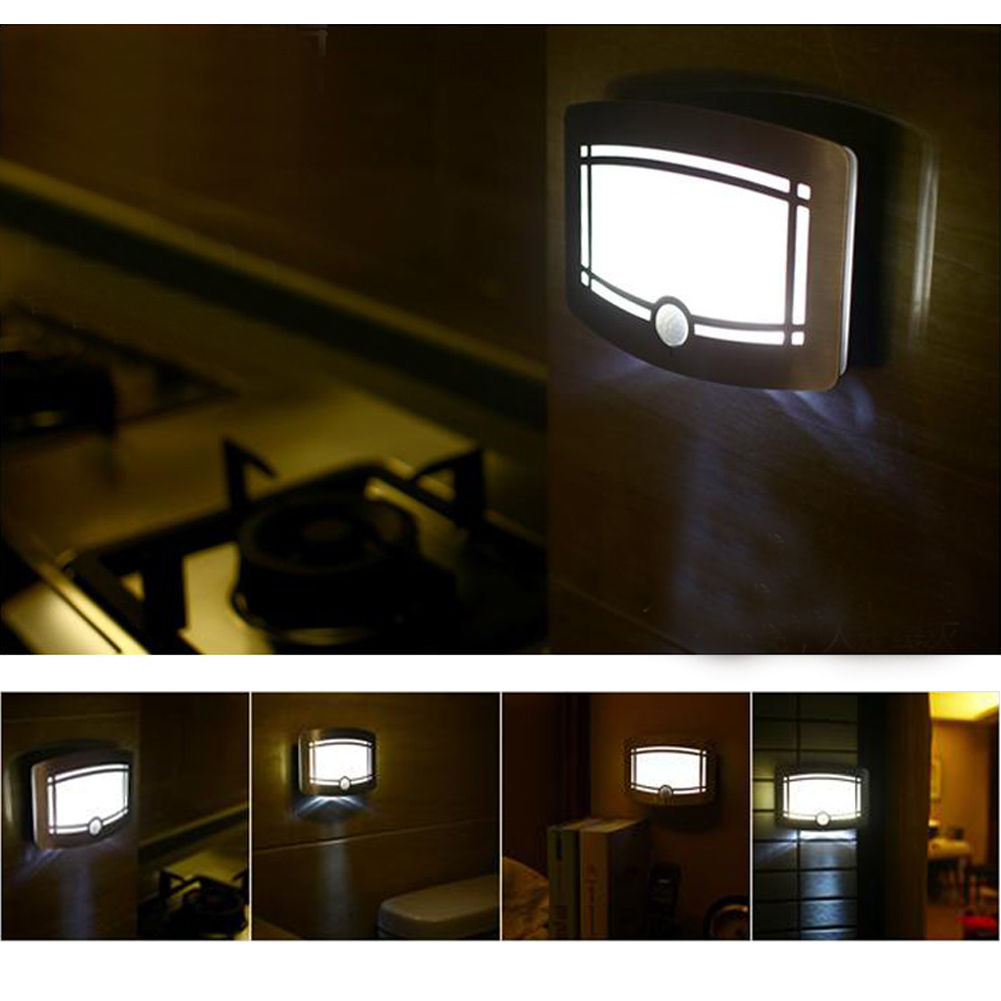 Body Motion Sensor Activated Battery Operated Led Wall Lamp Threewire System Mount Automatic Ir Light Switch Night Outdoorusd 1159 Piece