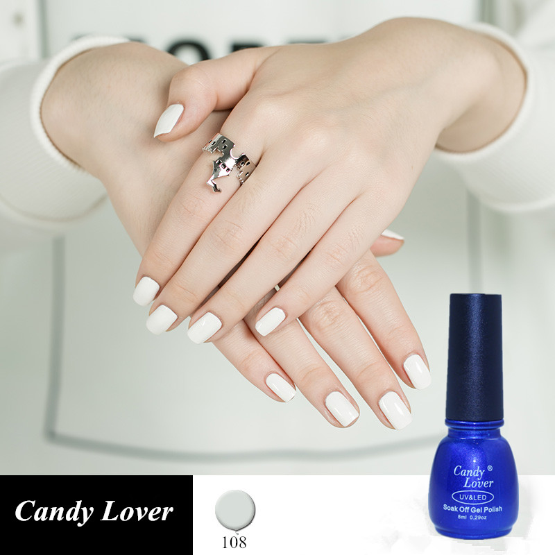 Candy Lover White Gel Nail Polish For French Tips 8ml Uv Varnish Long