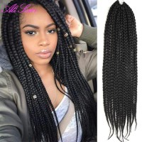 3X box braids hair crochet braids hairstyles secret hair ...