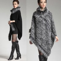 New Autumn European Winter women ponchos and capes Coat ...