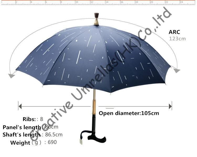 0475a1ff1 Autodefensa muleta paraguas, viejo irrompible, paraguas bastón, eje ...
