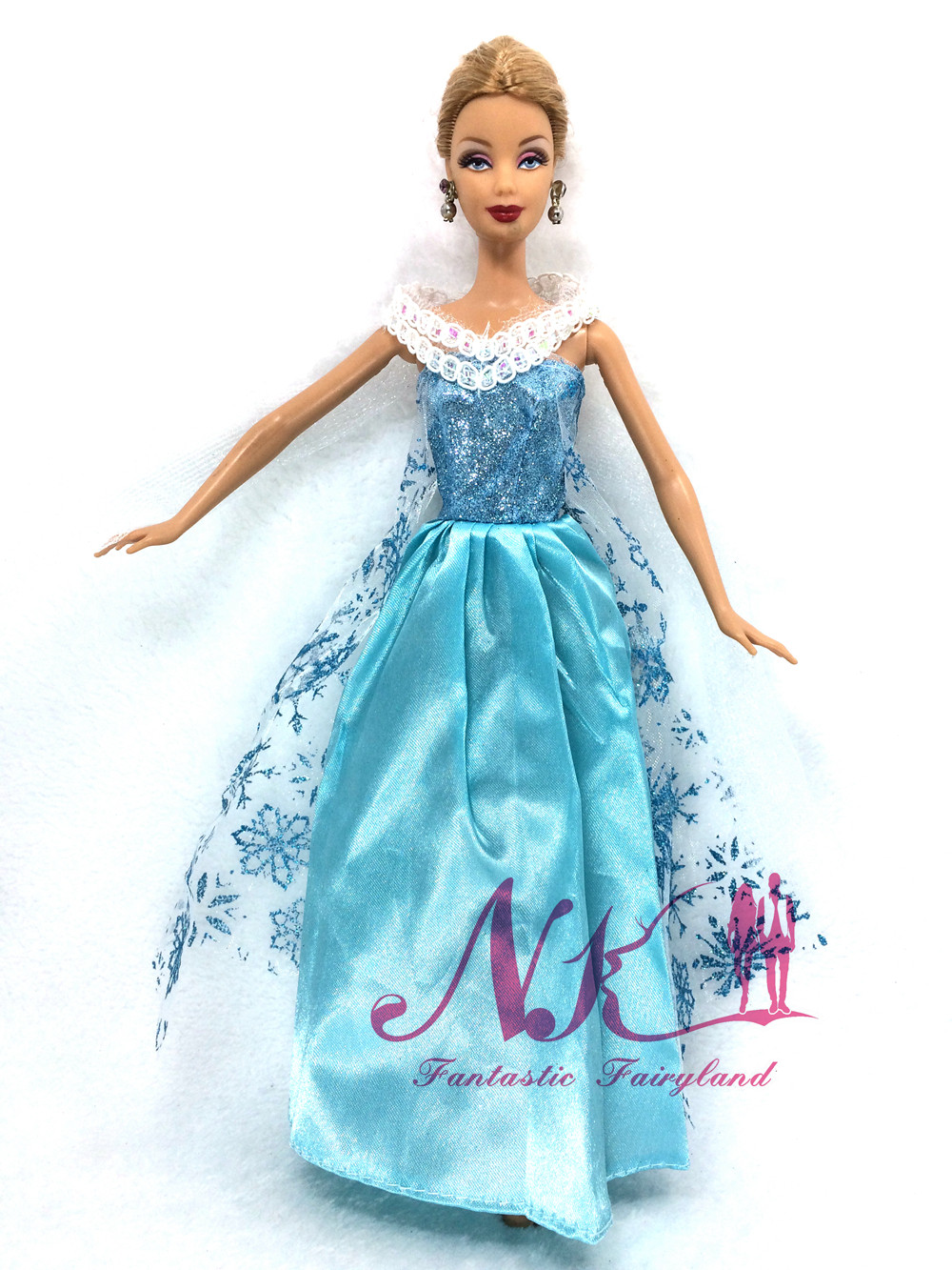 ⑦NK Newest Fairy Tale Princess Doll Clothes For Frozen Movie ... d459bce11aaa