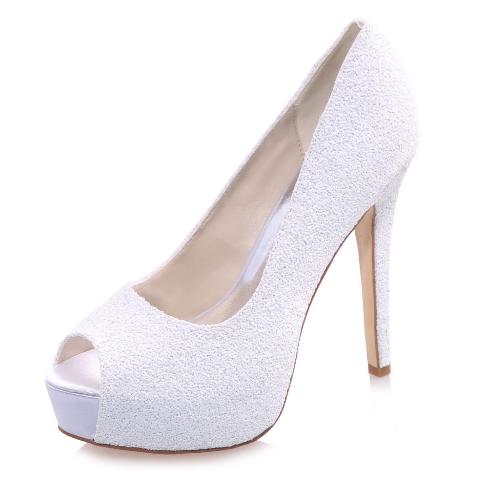 ⑤Creativesugar Bianco 3D glitter piattaforma open toe tacchi alti ... a6950a49a6e