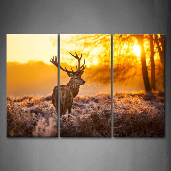 Sunset Paintings On Canvas Trees