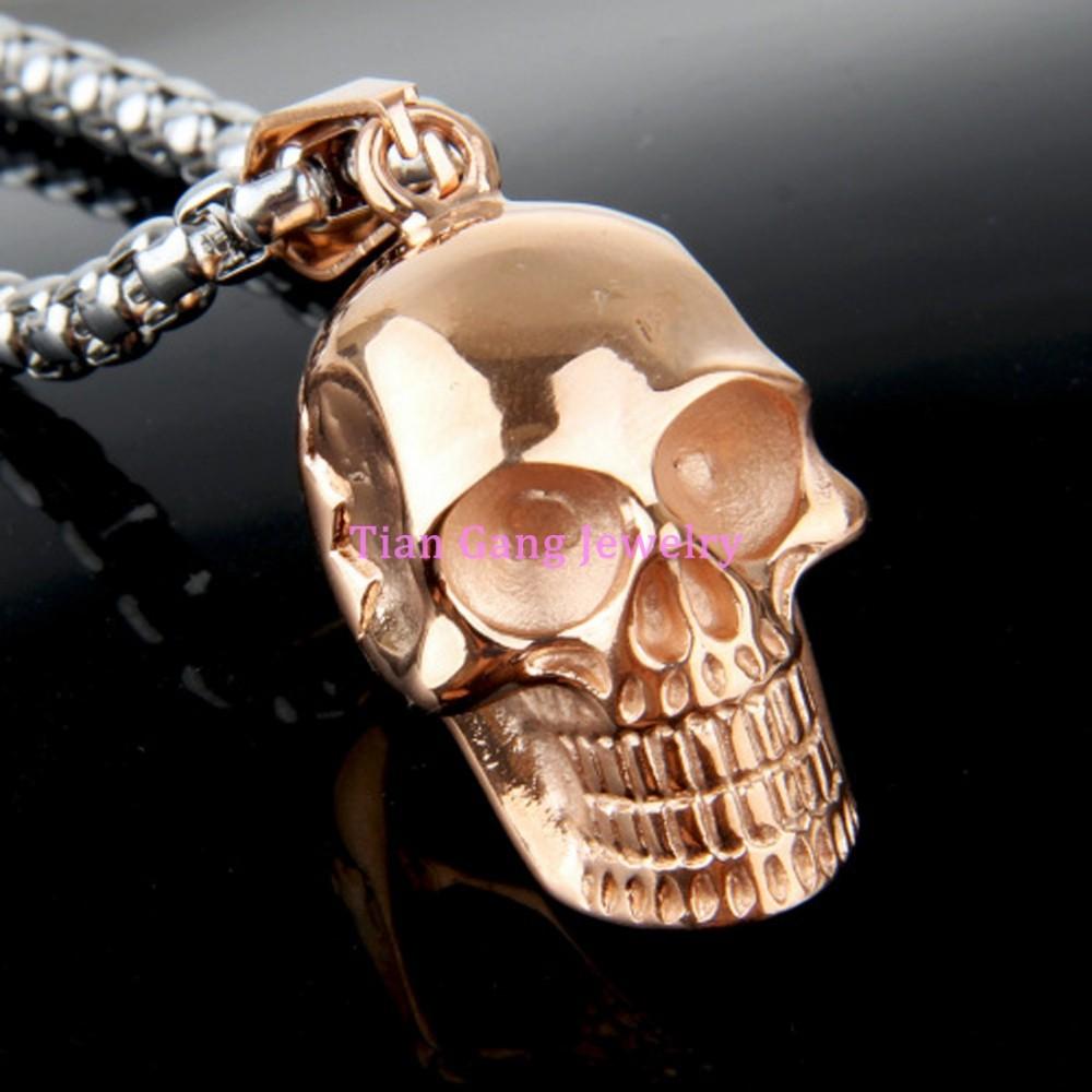 Vintage sugar skull gothique crâne cabochon en verre Noir Chaîne Collier Pendentif