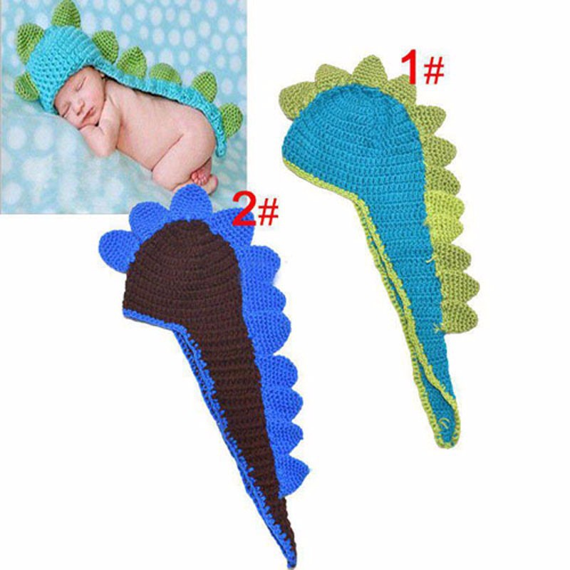 Bebé recién nacido sombrero del dinosaurio del niño patrón animal ...