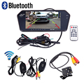 Bluetooth Slim 7 Full Screen Car Rear View Monitor MP5 Player Wireless Backup Night Vision Rearview