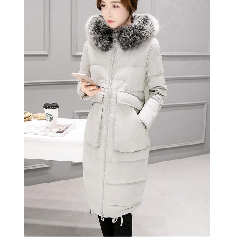 ᗐ2017 nuova Donna giacca nel lungo tratto di grandi dimensioni in ... ad1bbcaa16e3