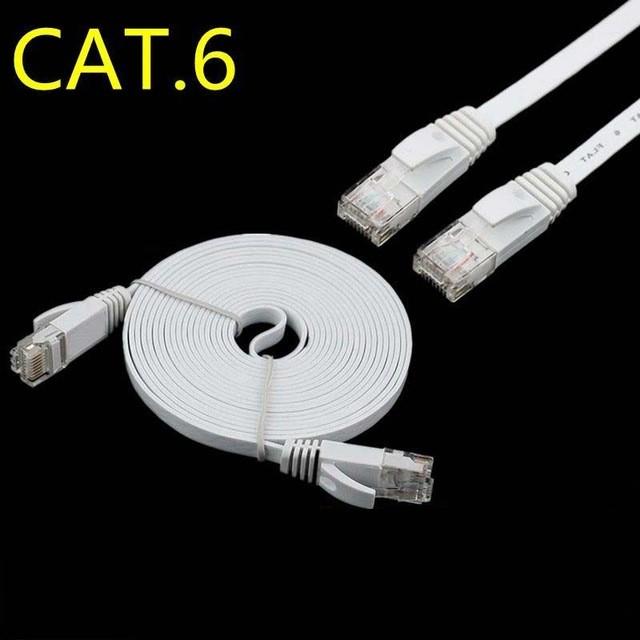 Black JIN Networking Accessory 8m CAT7 10 Gigabit Ethernet Ultra Flat Patch Cable for Modem Router LAN Network Color : Black Built with Shielded RJ45 Connectors