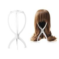 Plastic Hair Wig Stand ,106g Folding Plastic Wig Holder