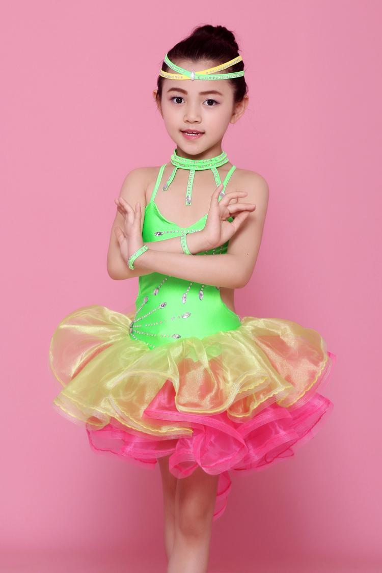 Color brillante etapa Disfraces de niñas Latino Ropa de baile ...