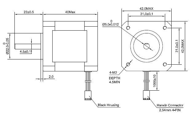 [EU Freeshipping] 5Pcs of 3D Printer Nema 17 Stepper Motor