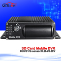 Free shipping 4ch h 264 sd mobile dvr cycle recording car bus dvr 128g mobile digital
