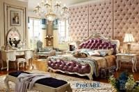 luxury European style solid wood carving bedroom furniture ...