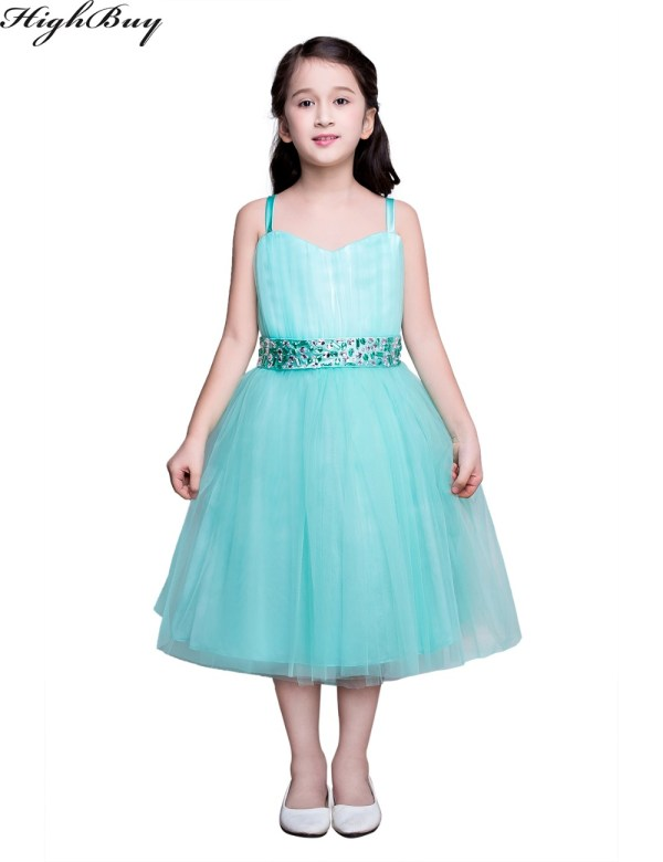 Real Flower Girl Dresses Turquoise Party Communion