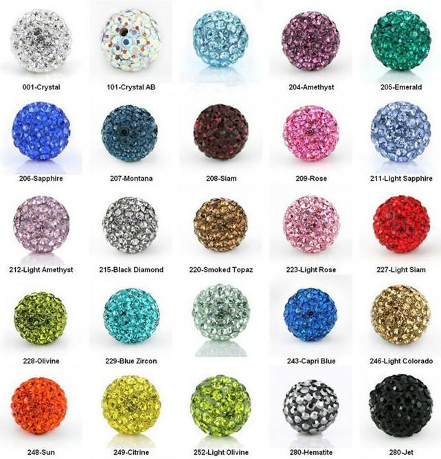 10Pcs 8 mm Laiton Clair Cristal Argent CZ Pave Micro Boule Disco Perles Perles rondes
