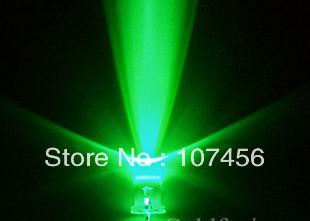 ᗕ1000 шт./лот Бесплатная доставка! 3 мм мигать зеленый ...