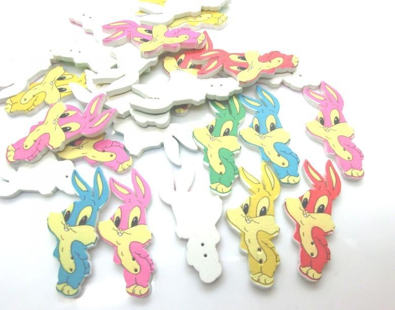 ⑧Envío libre-50 unids mezclado animales conejo de la historieta ...
