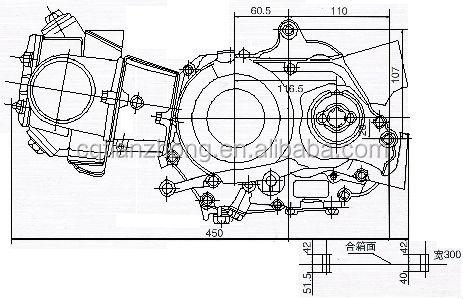 4 takt 50cc motorfiets motor/kleppen/krukas lager