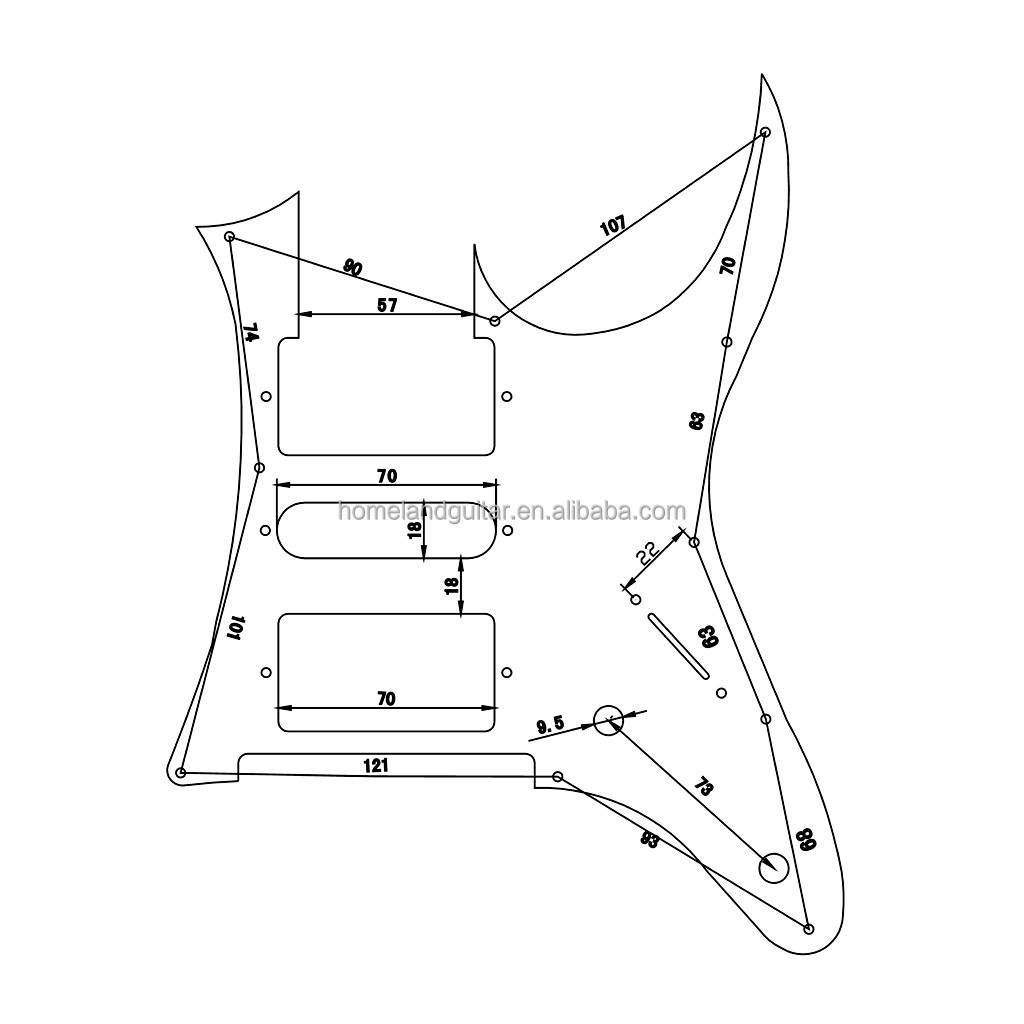 High Quality Rg Pickguard Mirror For Ibanez Rg Guitar