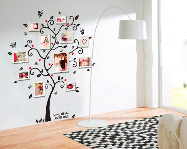 ⃝Foto Marcos genealógico árbol pared sticker Decal cartel en una ...