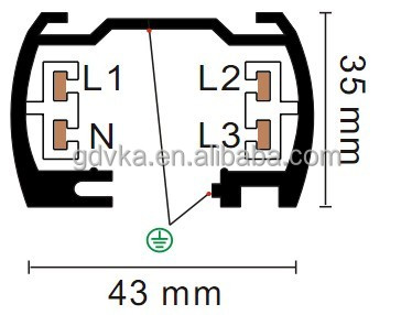 Single Circuit Led Track Light Section 1m 2 Wires Track