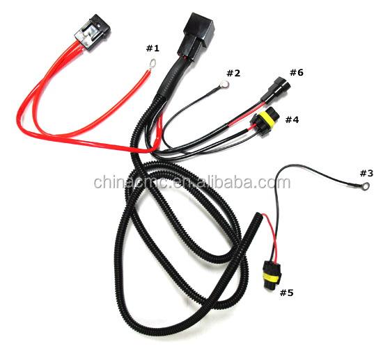 H3 H4 H7 H11 9005 9006 HID Conversion Kit Relé Cablagem