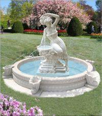 Stone Outdoor Large Mermaid Fountain - Buy Mermaid ...