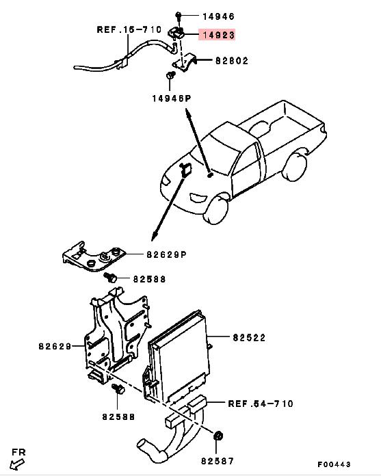 Engine Control Boost capteur pour Mitsubishi Pajero Sport