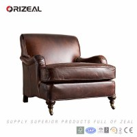 Orizeal Luxury Leather Sofa Chair,Single Leather Sofa