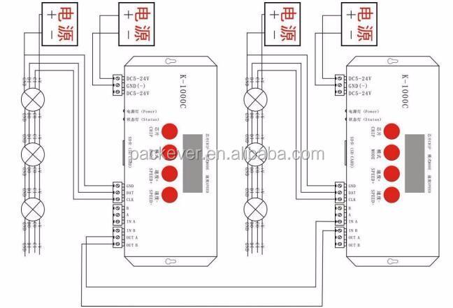 SD card rgb digital DMX512 LED controller K-1000C with