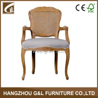 Hand Carved Rattan Back Solid Wooden Resturant Chair