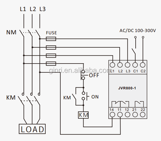 Ginri 3 Phase Voltage Monitoring Relay Over/under Voltage