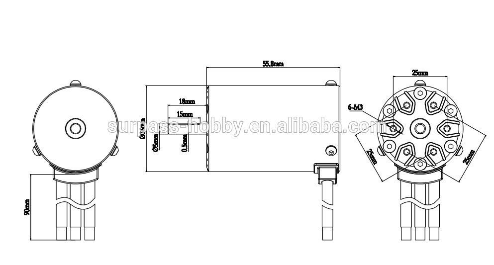 Hobby Sct Rc Car 550 Brushless Sensorless Motor +esc