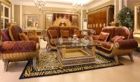 Luxury French Antique Royal Baroque Style Living Room ...