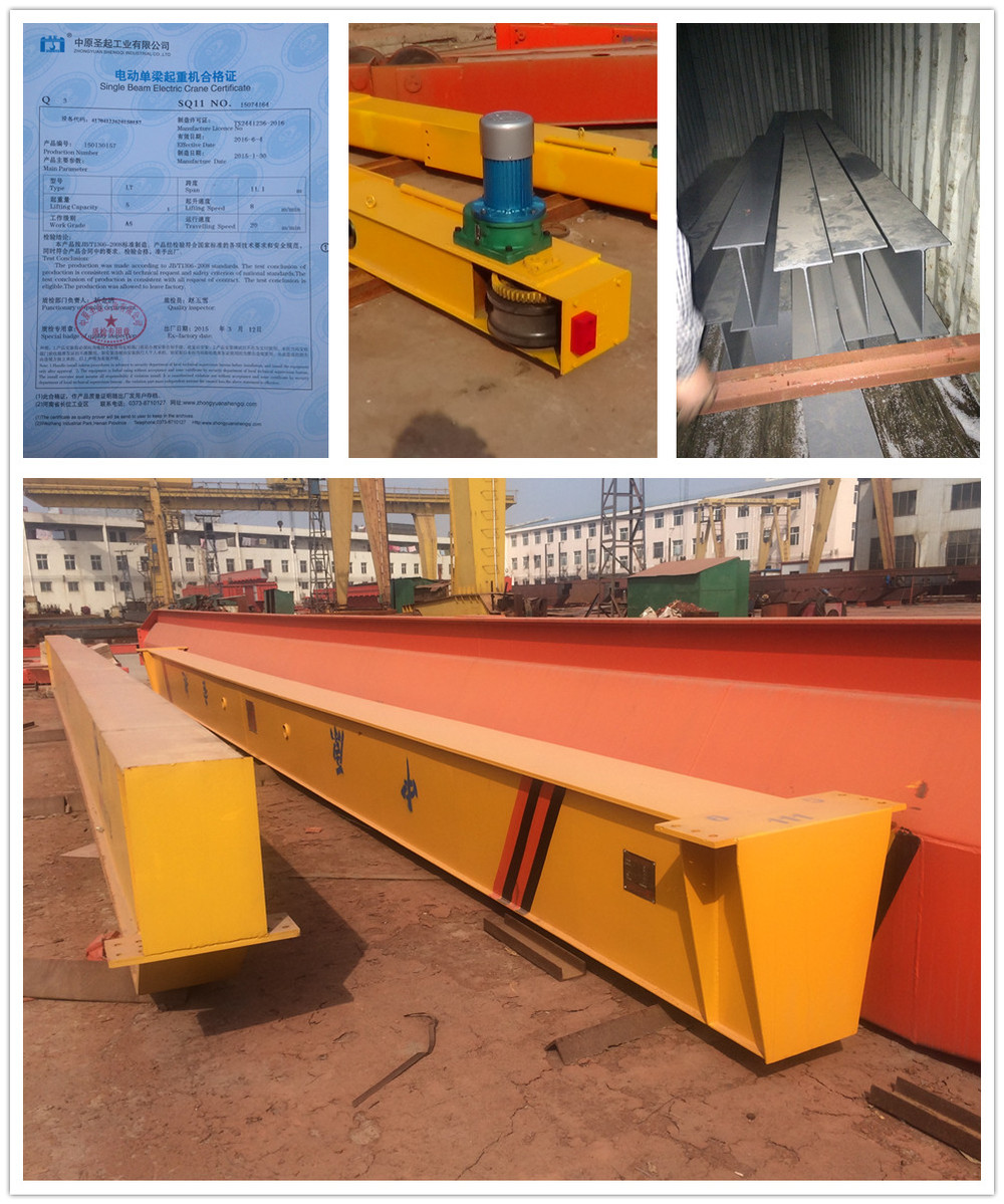 hight resolution of electric hoist carrier mono rail bridge single beam overhead crane for sale