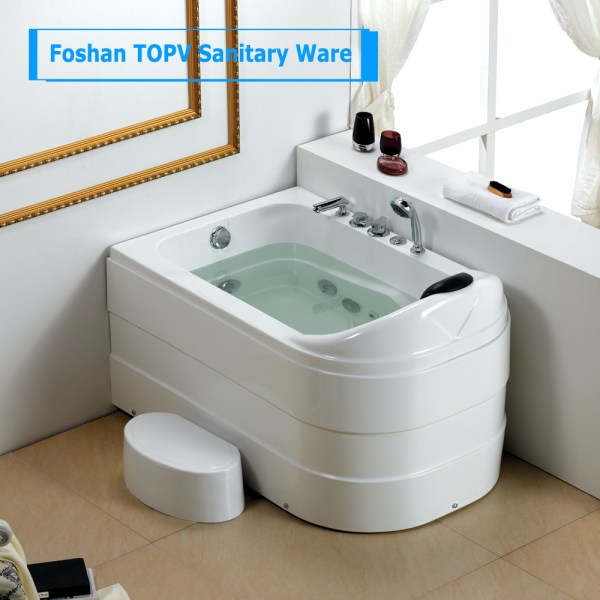 Modern Bathroom Multifunction 1 Person Hot Tub Corn Installation And Massage Function Small