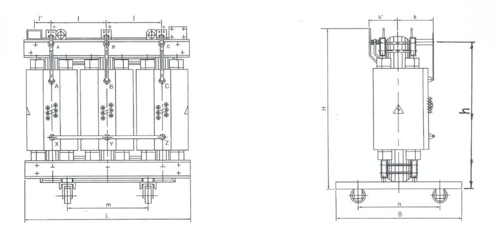 3 phase voltage 380v to 220v Dry type transformer Dry type