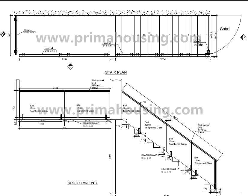 Tempered Glass Panel Railings For Indoor Stairs Prices(pr