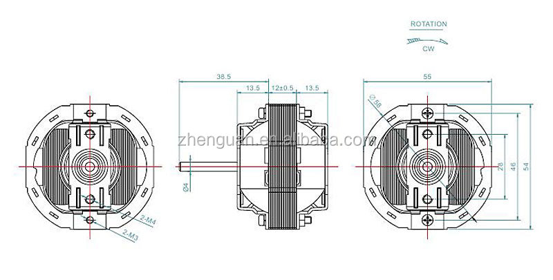 Shaded Pole Motor Air Conditioner Fan Ac Moter Yj58 Series
