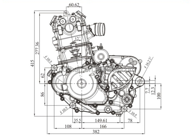 Nc250 4 Valve 250cc Zongshen Engine Manual Clutch For