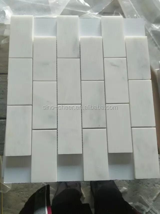 Planchers De Salle De Bains Bianco Carrara Carreaux