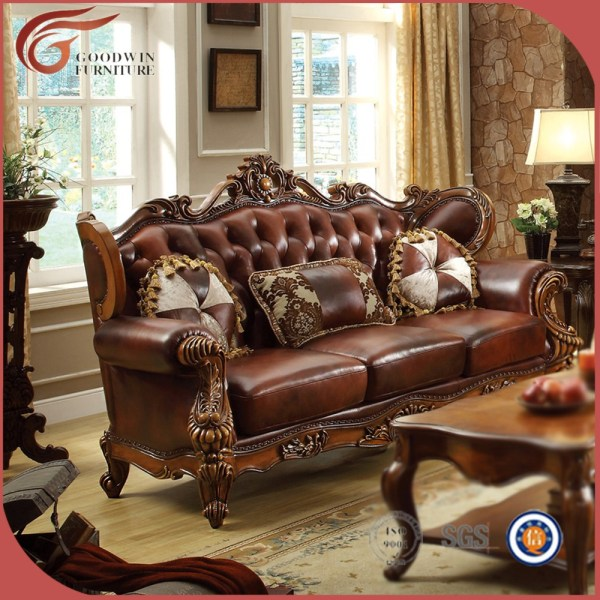 elegant leather living room furniture Antique Living Room Chairs