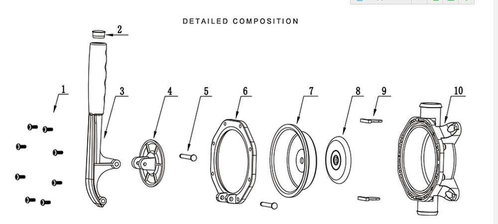 750 Gallon Manual Bilge Handle Pump For Small To Medium