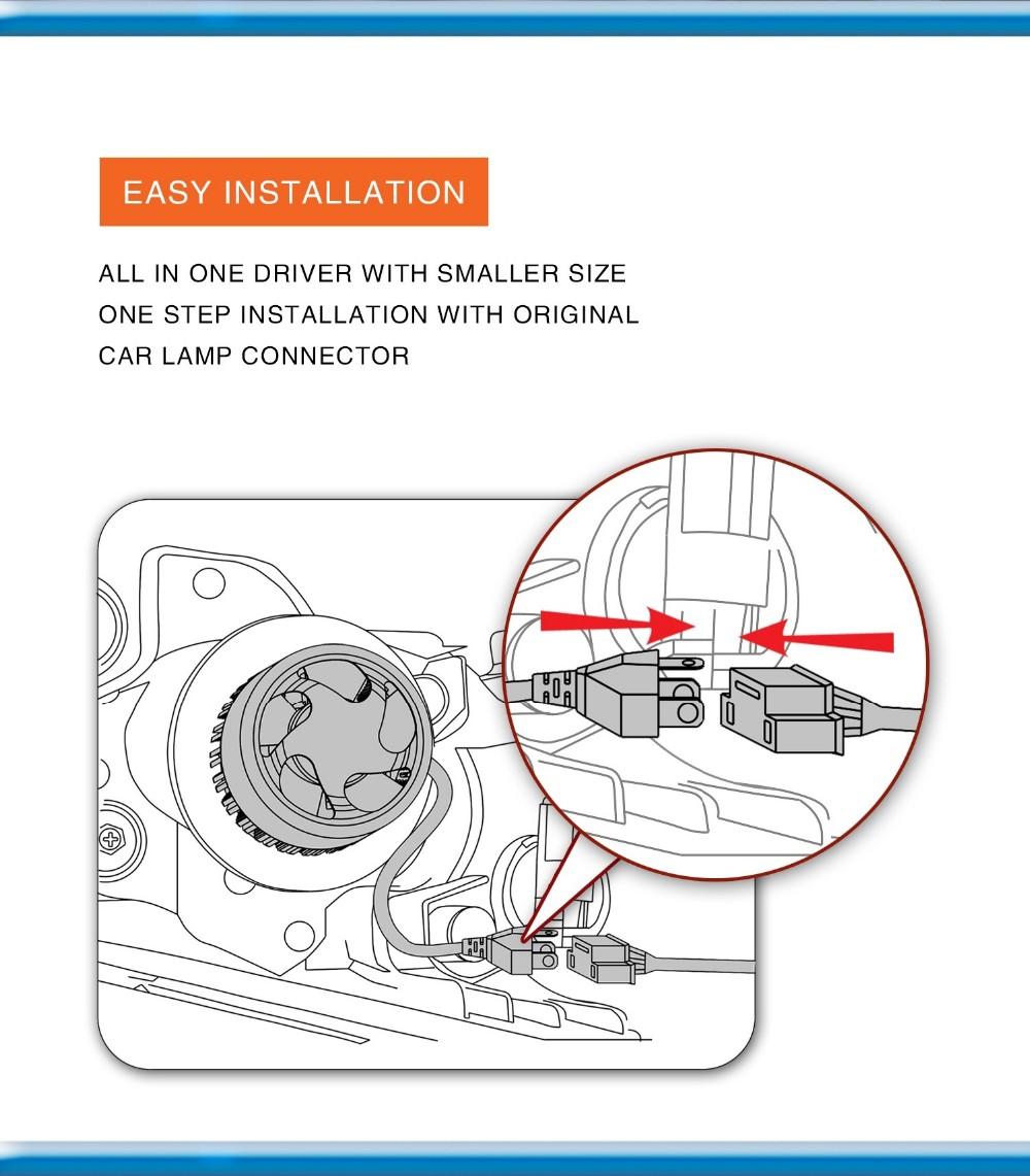 medium resolution of 2016 auto parts cob s2 car motorcycle led headlight kit rtd led h4 headlight wiring diagram