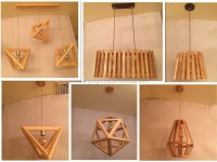 Traditional Solid Wood Hanging Light/lamp,Brown Wood ...