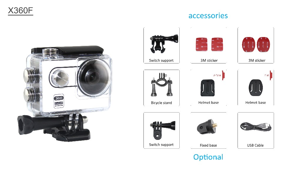 Full Hd 1080p Mini Dv Sports Camera Panoramic Wifi Action