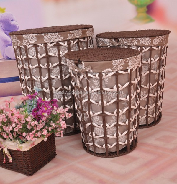 Wicker Basket Plastic Rattan Dirty