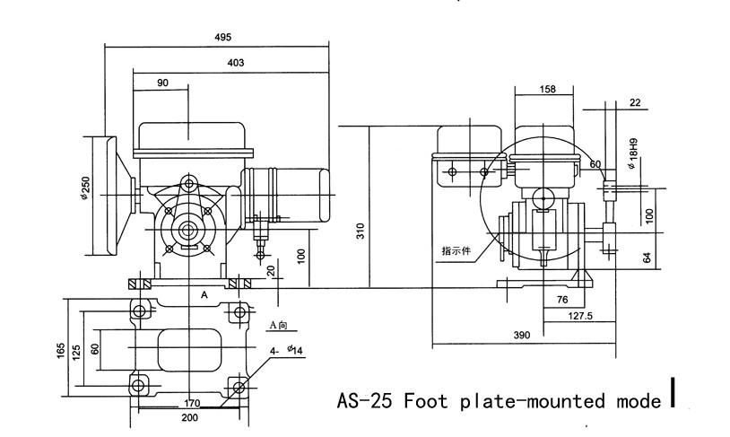 Oa-25k30h Electric Motorized Louver Damper Rotary Valve