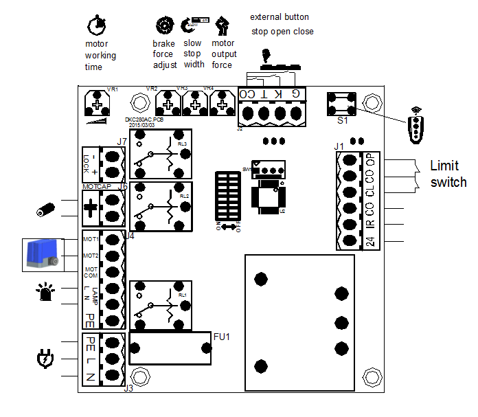 Small Size Soft Start Sliding Gate Opener Motor Kit Ac
